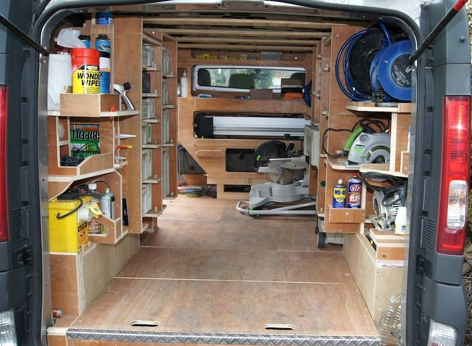 Tips for Interior Organization of a Work Van