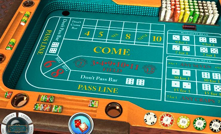 Craps Online Casino Gambling Game