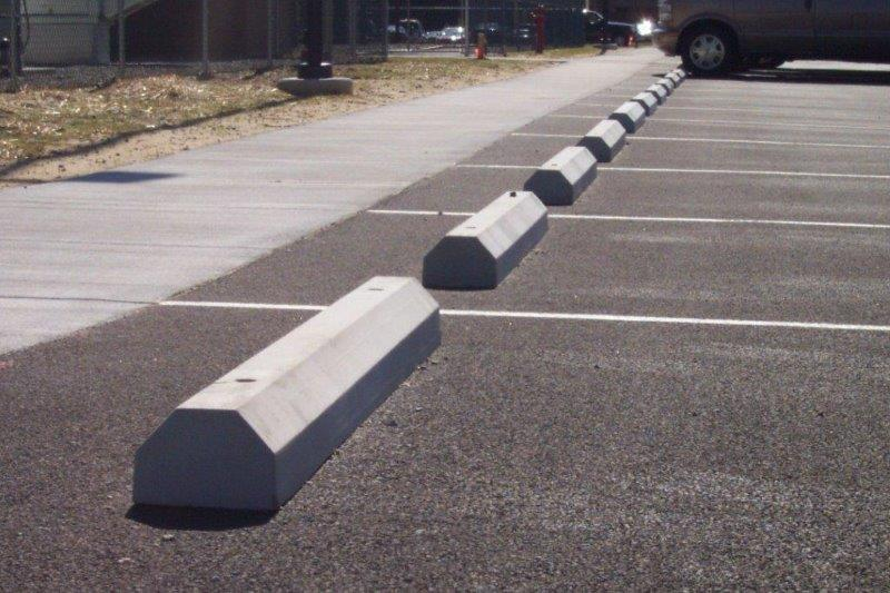 Installing with Steel Spikes for crushed and asphalt rock only
