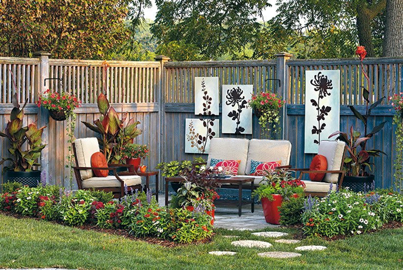 How to build a backyard patio garden?