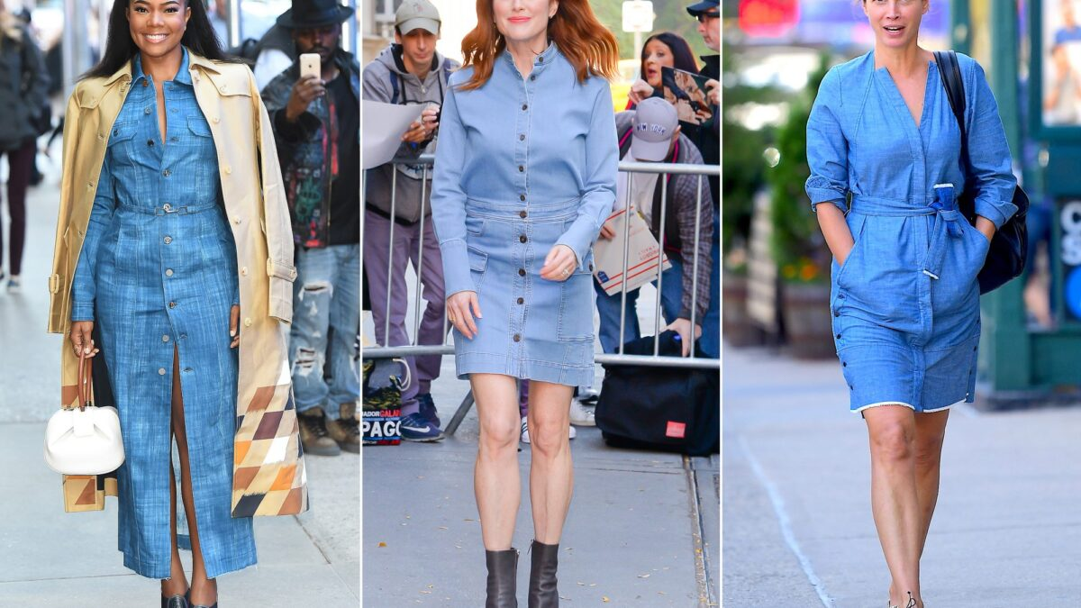 The body type that will look best for denim dresses
