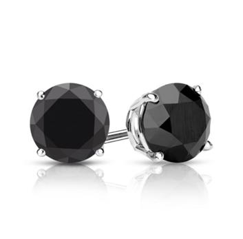 Black diamond earring for everyday wear