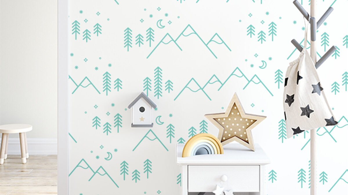 Give your home a fresh new look with peel and stick wallpaper